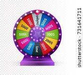 colorful wheel of luck or... | Shutterstock .eps vector #731641711