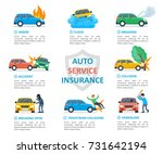 car insurance auto service.... | Shutterstock .eps vector #731642194