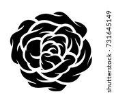 flower rose  black and white.... | Shutterstock .eps vector #731645149