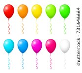 colorful balloons | Shutterstock .eps vector #731646664