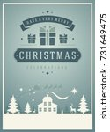 christmas greeting card or... | Shutterstock .eps vector #731649475