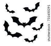 halloween bats flat vector... | Shutterstock .eps vector #731650291