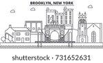 brooklyn  new york architecture ...   Shutterstock .eps vector #731652631