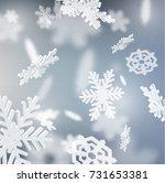 falling snowflake winter...   Shutterstock .eps vector #731653381