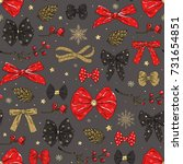 seamless christmas pattern with ... | Shutterstock .eps vector #731654851