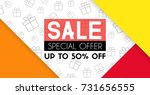 sale banner template design.... | Shutterstock .eps vector #731656555