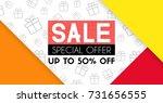 sale banner template design.... | Shutterstock .eps vector #731656555
