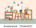 art drawing design studio... | Shutterstock .eps vector #731664337
