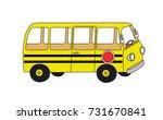 yellow school bus original... | Shutterstock .eps vector #731670841