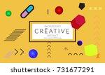 minimal universal banner... | Shutterstock .eps vector #731677291