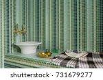 interior of turkish sauna ... | Shutterstock . vector #731679277