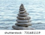 Pile Of Stones On A Seashore