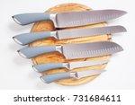 set of five modern kitchen... | Shutterstock . vector #731684611