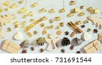 christmas decoration on the... | Shutterstock . vector #731691544