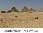 the great pyramids of giza ... | Shutterstock . vector #731694361