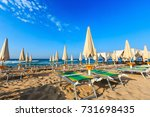 morning paradise white sandy... | Shutterstock . vector #731698435