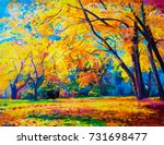 original oil painting on canvas.... | Shutterstock . vector #731698477