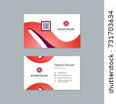business card design trendy... | Shutterstock .eps vector #731703634