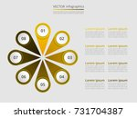 step by step infographic.... | Shutterstock .eps vector #731704387