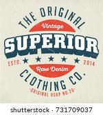 the original superior clothing... | Shutterstock .eps vector #731709037