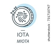 iota cryptocurrency coin line ... | Shutterstock .eps vector #731710747