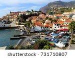 fishing village of camara dos... | Shutterstock . vector #731710807