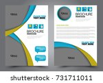 business flyer design template. ... | Shutterstock .eps vector #731711011