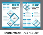 business flyer design template. ... | Shutterstock .eps vector #731711209