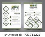 business flyer design template. ... | Shutterstock .eps vector #731711221