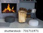 scandinavian interior with a... | Shutterstock . vector #731711971