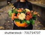 Orange Pumpkin With Beautiful...