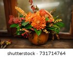 Pumpkin With Beautiful And...