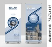 business roll up design... | Shutterstock .eps vector #731716669
