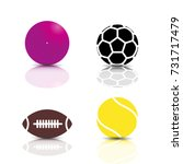 set of game icons  balls with a ... | Shutterstock .eps vector #731717479
