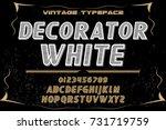 vintage font handcrafted vector ... | Shutterstock .eps vector #731719759