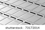 Platinum ingots background. Computer generated 3D photo rendering. - stock photo