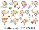 Kids With Symbols Like Arrow ...