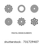 set of black and white circular ... | Shutterstock .eps vector #731729407