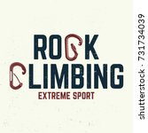 rock climbing club badge.... | Shutterstock .eps vector #731734039