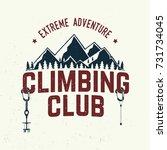 climbing club badge. vector....   Shutterstock .eps vector #731734045