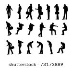 silhouette business man | Shutterstock . vector #73173889