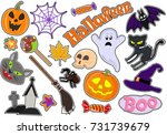 colorful vector set of stickers ... | Shutterstock .eps vector #731739679