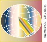 new colorful gradient www globe ... | Shutterstock .eps vector #731743051