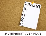 a yellow sticky note writing ... | Shutterstock . vector #731744071