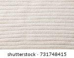 white  beige knitted wool... | Shutterstock . vector #731748415