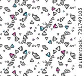 fashion diamonds background... | Shutterstock .eps vector #731749105