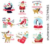 set of holiday pictures  images ... | Shutterstock .eps vector #731749681