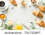 continental breakfast captured... | Shutterstock . vector #731752897