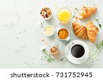 continental breakfast captured... | Shutterstock . vector #731752945