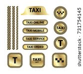 set of icons for taxi services. ... | Shutterstock .eps vector #731754145